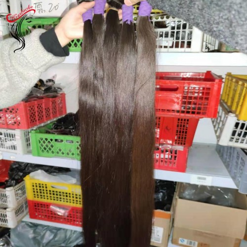 """36"""" 38"""" 40"""" 42"""" 44"""" inches added Exotic Weave Raw Virgin Bohemian Super long Natural Straight Human Hair Extension single bundle deal 100g Nice ends"""