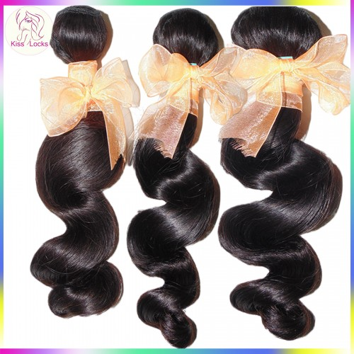 Golden Supplier 3pcs/lot Full Bundles Grade 10A Unprocessed Brazilian Loose Wave Weave Virgin Hair Affordable price