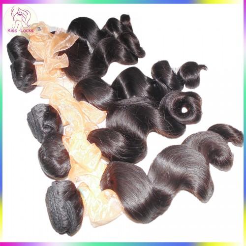 Golden Supplier 3pcs/lot Full Bundles Grade 10A Unprocessed Brazilian Loose Wave Weave Virgin Hair Affordable price