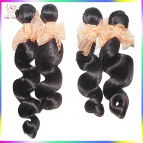 Super Deal 10A Unprocessed Ocean Weave Virgin Brazilian Deep Loose Wave Hair 4pcs/lot Kiss Locks Fashion Show