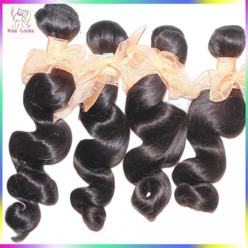 400g/lot Authentic Raw Virgin Hair Vendor 100% Unprocessed Brazilian Loose Wave Spirl Lazy Curls Grade 10A
