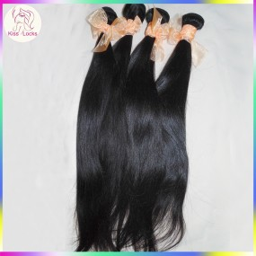 HOT Sale 10A Brazilian Virgin Hair Straight Weave Wefts 3 bundles Deal Extreme Silky Texture KissLocks Raw Hair