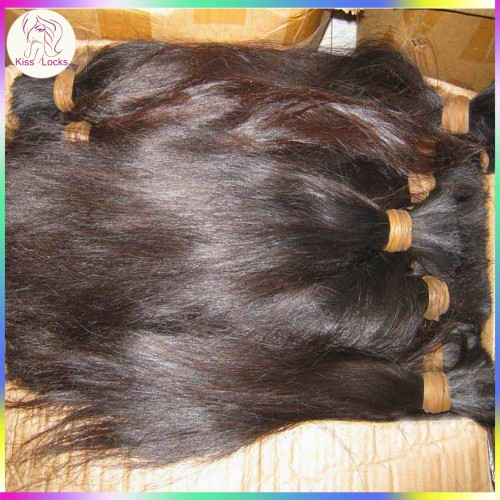 Wholesale Bulk human hair for braiding 3pcs lot (300g) VIRGIN Raw Malaysian  hair No wefts Straight ... 366e535223ed