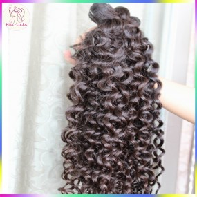 Reliable Raw Hair Supplier 4pcs/lot 10A Deep wavy Curly Original Burmese Human Hairs NO Acid Boiling