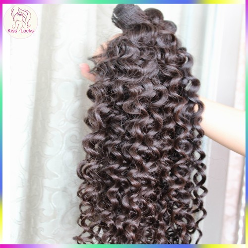 Reliable Raw Hair Supplier 4pcs/lot 10A Deep wavy Curly Original Burmese Human Hairs NO Acid Boiling