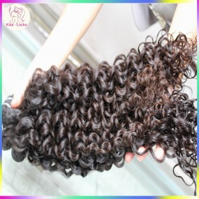 KissLocks Raw Hair Weaves 2 bundles Burmese Spanish Curl Hair Extensions Flawless 10A Grade