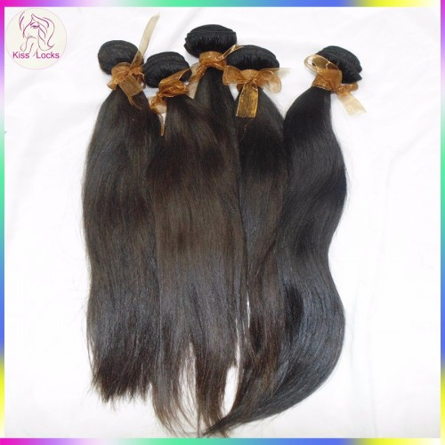 2pcs/lot Flawless Boutique Virgin Remy Unprocessed Straight Burmese raw hair Wefts Grade 10A Surpass