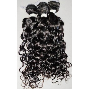 New texture new feeling single donor Raw Hair Burmese natural loose romance curly 3 bundles/lot No Blend No fillers