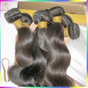 10A Unprocessed Cambodian Body Wavy Virgin Hair 4pcs Mix lots(18,20,22,24 ) Natural Dark Brown CAN BE DYED