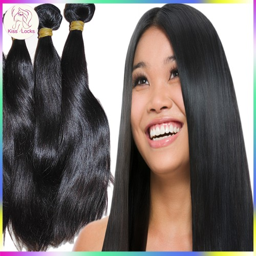 Premium 10A Unprocessed RAW Virgin Cambodian Bouncy Straight Human Hair Wefts 3pcs/lot (300g) bundles Deal Medium Luster