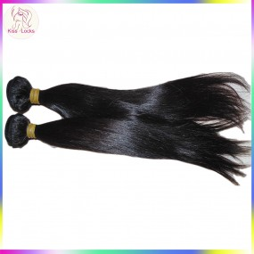 BEST Quality Double Weft Cambodian 10A Virgin Straight Human Hair 2pcs/lot Bundles deal RAW Unprocessed