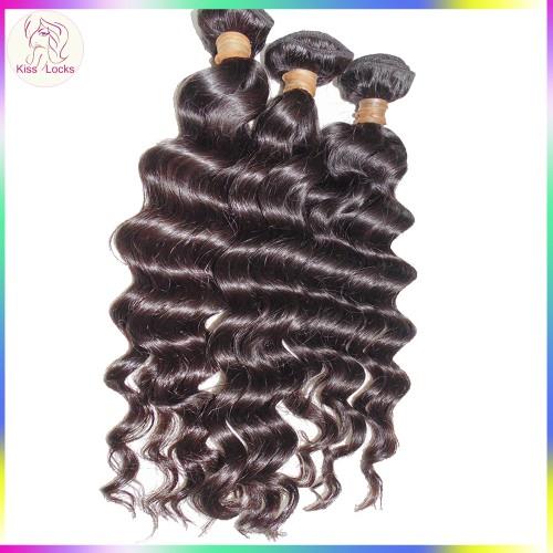 Top of Line Flawless Virgin Cambodian Loose Deep Wave Hair Weaves 4 Bundles Deal No Fillers Medium Luster Rock Your Beauty
