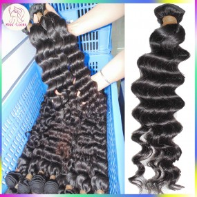 Just like a Shine Star Deep Wave Lazy Curls Single bundle Deal Virgin Cambodian Raw Hair 100g Unprocessed Grade 10A