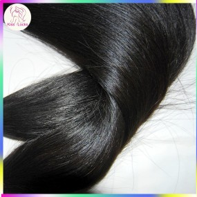 Grade 10A Natural Raw Eurasian Virgin Weaves Straight Human hair No Steam Process 2 bundles KissLocks Beauty