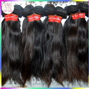Brownish 10A Virgin Unprocessed Eurasian Human hair Straight 3 bundles Factory Picture Kiss Locks RAW Hair
