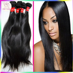 Amazing 10A Natural Virgin Eurasian Human Hair straight weave 3pcs/lot Free Tangle Flawless bundles Kiss Locks Collection