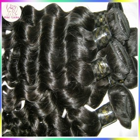 KissLocks 3 bundles Filipino loose deep Wave More Curly hair weaves Free tangle,no nits South American Lima