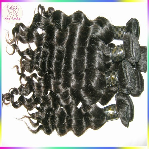 "New Texture 4pcs/lot Filipino loose more curly wave hair 12""-28"" Unprocessed virgin hair NEW Style Natural Shine"