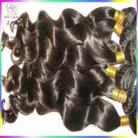 WetKiss Lustrous 10A Lush Wave Deep Wavy Loose curls Filipino Virgin Human Hair 3 Bundles Thick raw Hair