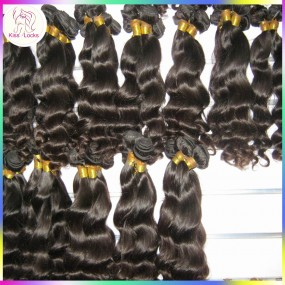 The Softest Natural More Wavy hair Virgin Loose Wave Filipino weaves 4pcs/lot Wonderful shopping KissLocks Collection
