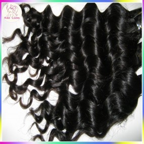 Fresh bundles Filipino Virgin Human Hair 3pcs/lot Deep Wave Loose curls Steamed Texture Full Cuticles Remains