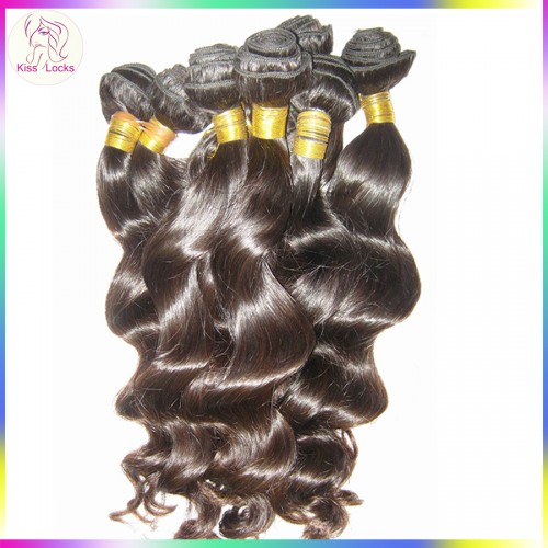 "10A Premium Quality Virgin Filipino Loose wave hair 4pcs/lot,12""-30"" 10A Human Hair Weft Kiss Locks Products"
