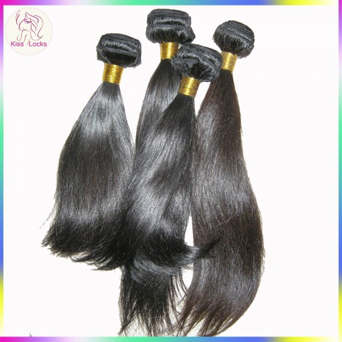1 bundle Package 100% unprocessed flawless KissLocks's virgin hair bouncy straight 3.3-3.5oz more amounts,Top Seller
