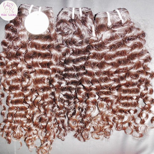 100% Filipino machine weft hair Virgin Human Hair Deep big Curls Organic Healthy Strands one Donor Raw Hairs 3 bundles