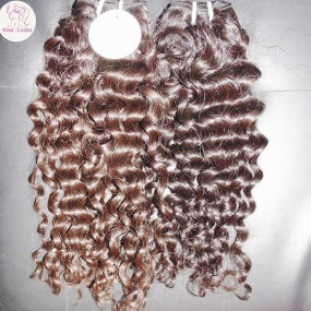 Thick Human hair raw filipino hair deep curly Virgin unprocessed 4pcs/lot Best Quality Kiss Locks Famous Brand Giveaway