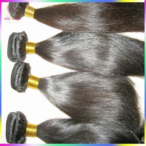 "Premium Quality Virgin Filipino straight hair 4pcs/lot,12""-30"" 10A Human Hair Weft Kiss Locks Products"