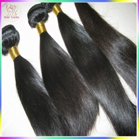Kiss Locks Natural Straight Virgin RAW Filipino Hair 3pcs(mix lot 16,18,20) ,95-100grams/piece,Silky hair Weave