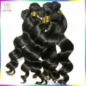 "10A Premium Quality Virgin Filipino Loose wave hair 4pcs/lot,12""-30"" 10A Human Hair Weft Kiss Locks Products"