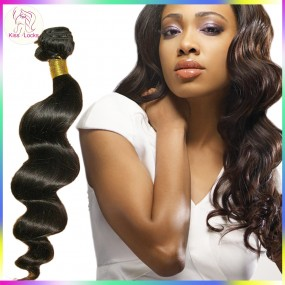 Retail 1 bundle/1piece 100g promotion Unprocessed sprial curl Filipino LOOSE WAVE Raw virgin hair weave wefts Online