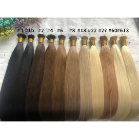 Micro Head Beads Pre bonded U-tip Hair extensions Peruvian Human Hair Straight 100g/lot Many Different Colors #1B,#2,#4  etc.