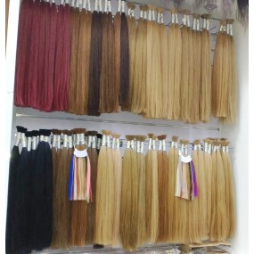 Premium Quality Colored Hair Bulk Hair Double Drawn single donor unwefted bundles 100g/piece Full ends to bottom Free shipping
