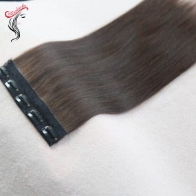 Clip ins Raw Hair extensions 120g/pack 7pcs/set different color options Top quality single donor hair double drawn