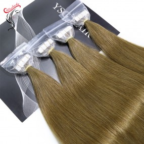 Raw Hair Tape-ins Tapein extensions Luxury quality European style seamless glue extension 100g/pack colors available