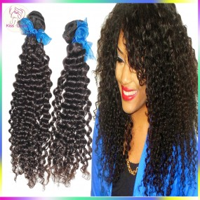 Raw Hair Samples 2pcs Tight curly Wefts 100% Temple Indian remy Virgin Hair Nice weaves Shine Luster