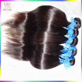 Awesome 10A Sleek Straight Virgin Hair 100% RAW Unprocessed Indian Thin Wefts 4 Bundles Full Sew in