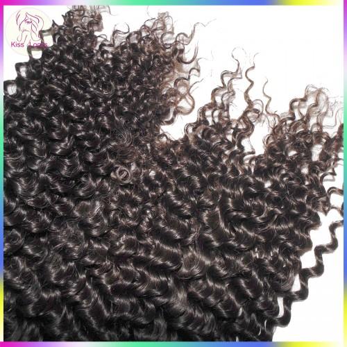 10A Top unprocessed Indian Tight Curly Virgin Hair 4pcs/lot(400g) KissLocks Weave Bundles G Star Raw