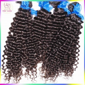 10A Top unprocessed Indian Tight Curly Virgin Hair 4pcs/lot(400g) KissLocks Weave Bundles G Star Raw