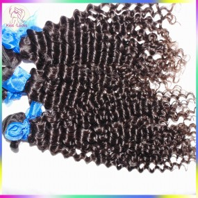 Super Indian Curly Hair Bouncy Jerry Curls 3pcs/lot 10A No Silicon Coating Natural Virgin Hair Clearance Sale