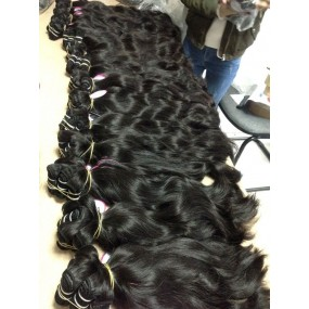 New arrival INDIAN raw natural wave wavy unprocessed human hair extensions 3 bundles great deals great weaves