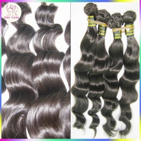 Unprocessed Wet and Wavy Indian Virgin Hair Weaving 100gram 10A loose Lush Piano Wave