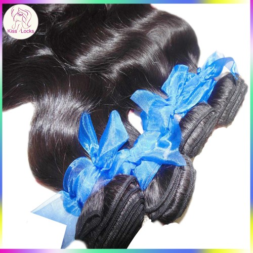 Kiss Locks online store 2pcs Temple Virgin Indian Wavy Dark Black bundles deal Charming Lady Fast shipping
