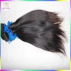 Sample Bundles KissLocks Raw Hair Extension Virgin Straight Indian Hair 100g Can be dyed,Low Maintenance