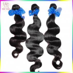Kiss Locks Products Raw 10A Virgin Wavy Indian Human Hair Weaves 4pcs/lot no tangle Durable Thick Strands