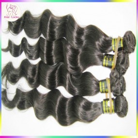 10A KissLocks RAW Indian Virgin Hair Loose More Wavy Texture,bouncy&soft,no tangle,3 bundles Deal Sale Promotion Discount