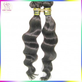 Raw Indian Virgin Hair Loose wave 100% Unprocessed Extension Free tangle Dyeable 2 bundles Natural Colors Temple Hair