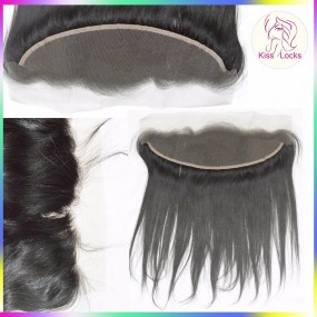 "brown/Transparent laces Virgin Laotian Straight Full Swiss Lace frontal Closure 13x4 10""-20"" inches In stock Promotion Price"